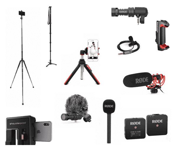 statief & microfoon sets
