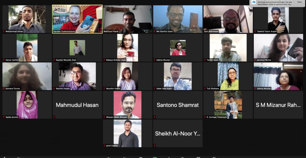 Zoomsessie- Bangladesh collega's